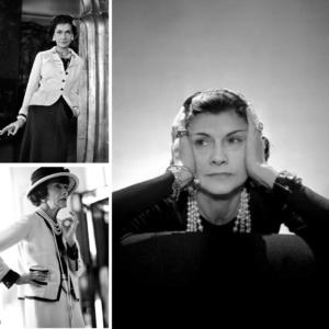 Coco Chanel, la tête entre les mains