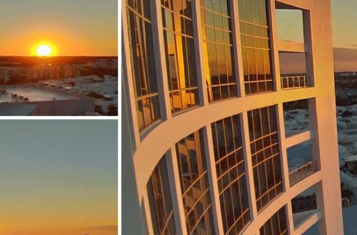 Coucher de soleil sur la ville de Miami