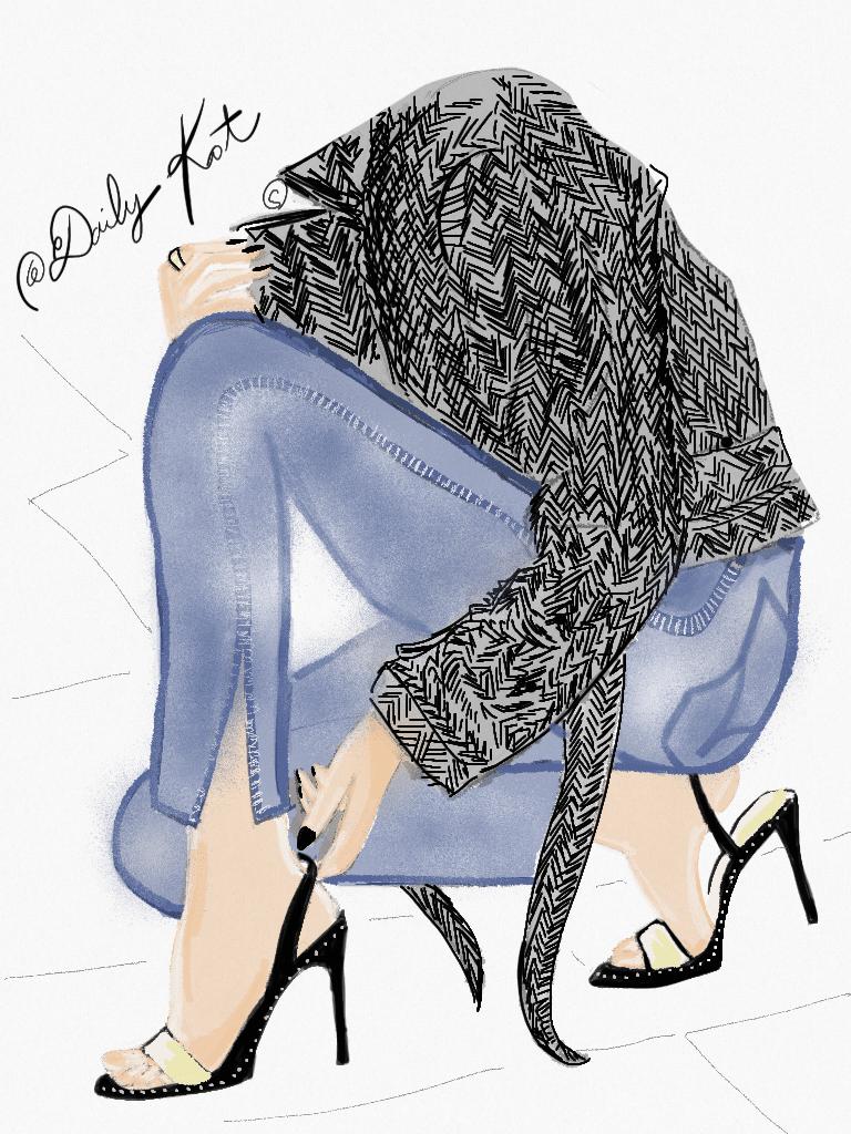Illustration de mode à l'aquarelle, DailyKat