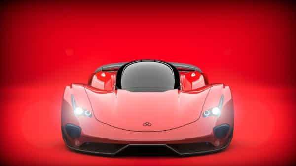 Prototype de voiture de luxe, Ferrari rouge, signification de la couleur rouge