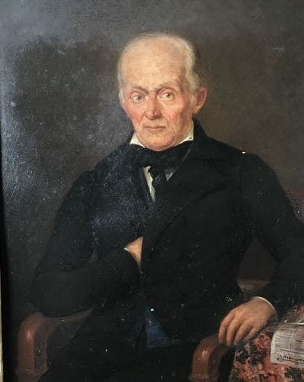 Portrait d'un notaire du XIXe sciècle