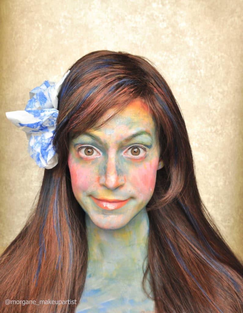 Face painting inspirée par Klimt, modèle Morgane elle-même, MakeUp artist