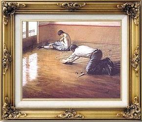 Photo d'un tableau des raboteurs de Caillebotte, peintre impressionist