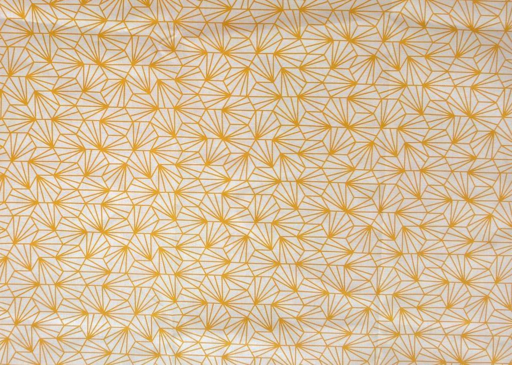 Tissu pour masque au choix, graphique jaune, inspiration japonnaise