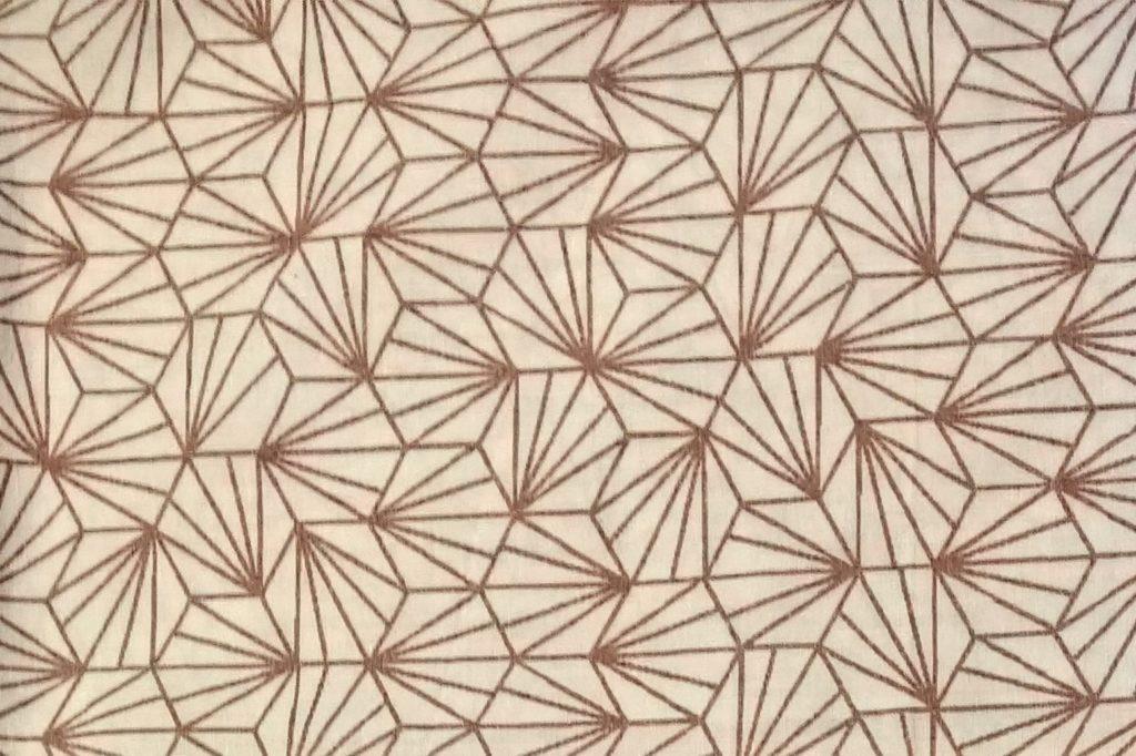 Tissu pour masque au choix, graphique marron, inspiration japonnaise