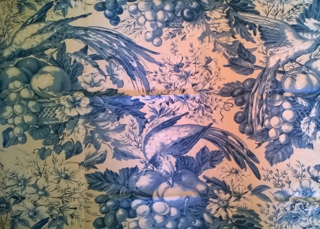 Tissu pour masque au choix, Oiseaux bleus