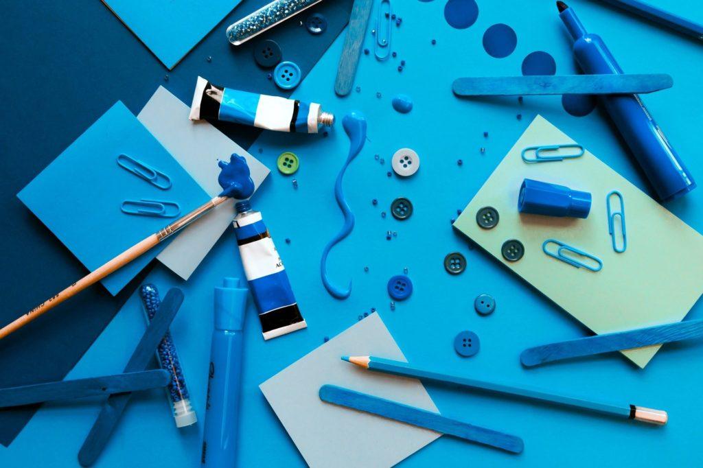 Evenement Inter-blogueurs, La couleur bleue et la créativité, l'innovation