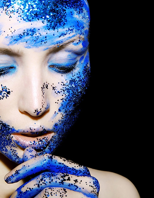 Evenement Inter-blogueurs, le bleu, élégance et créativité, viagse sublimé avec du bleu